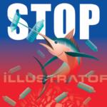 swordfish – STOP – Marlin – vector – Espadon – pez espada-
